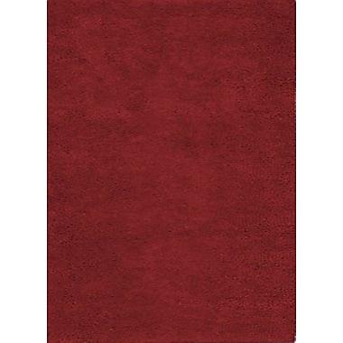 Wildon Home Henley Hand-Tufted Maroon Area Rug; 9' x 12'