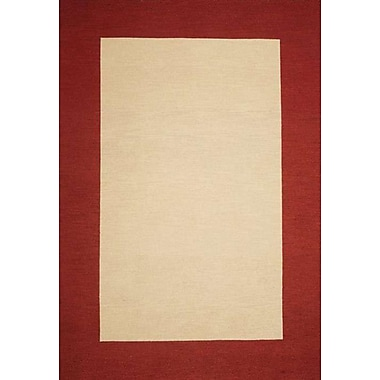 Wildon Home Henley Hand-Tufted Beige/Red Area Rug; 8' x 10'