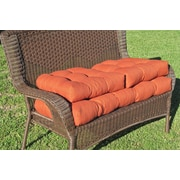 Blazing Needles Outdoor Wicker Settee Cushion (Set of 3); Azul