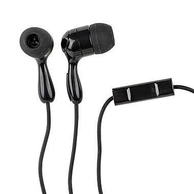 Staples® In-Ear Headphones with Microphone, Black, (29919-CA)