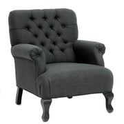 TOV York Armchair; Gray