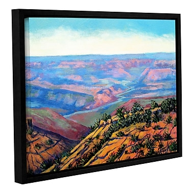 ArtWall 'Valley View' by Gene Foust Framed Painting Print on Wrapped Canvas; 36'' H x 48'' W