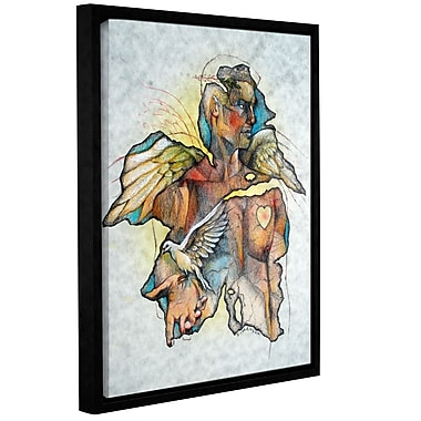 ArtWall 'Wonder III' by Greg Simanson Framed Graphic Art on Wrapped Canvas; 24'' H x 18'' W