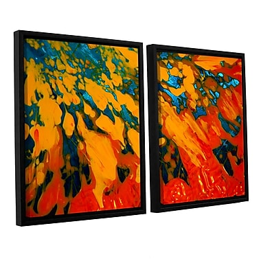 ArtWall 'Floating' by Byron May 2 Piece Framed Painting Print on Canvas Set; 32'' H x 48'' W x 2'' D