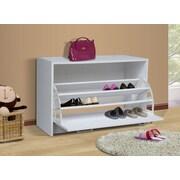 4D Concepts Single 12-Pair Shoe Storage Cabinet; White
