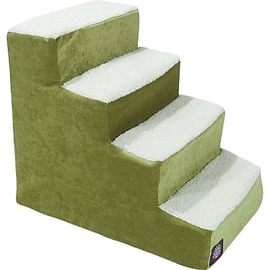 Majestic Pet Villa 4 Step Pet Stairs; Apple - Green