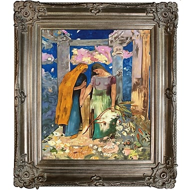 Tori Home Mystical Conversation, 1896 by Odilon Redon Framed Painting Print