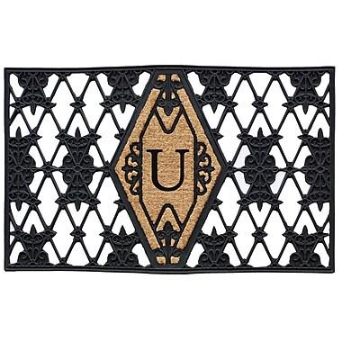 Home & More Monogram Doormat; U