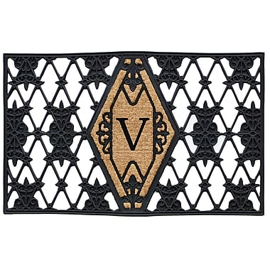 Home & More Monogram Doormat; V