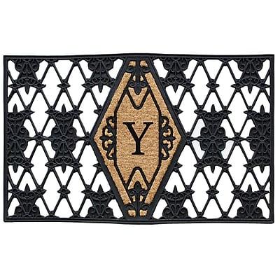 Home & More Monogram Doormat; Y