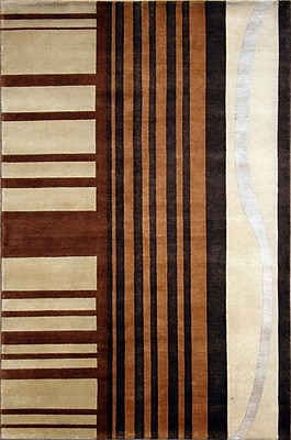 Wildon Home Soho Hand-Knotted Ivory/Brown Area Rug; 8' x 10'
