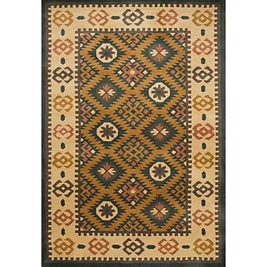 Wildon Home Southwest Hand-Tufted Mineral Green/Beige Area Rug; 9' x 12'