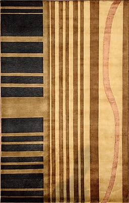 Wildon Home Soho Hand-Knotted Beige/Brown Area Rug; 5' x 8'