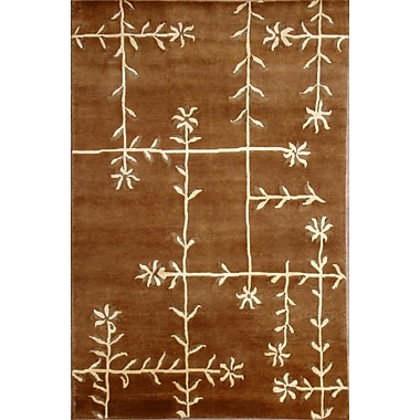 Wildon Home Soho Hand-Knotted Brown/Ivory Area Rug; 5' x 8'