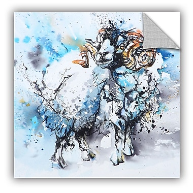 ArtWall Sheep 10 V2 Wall Mural; 14'' H x 14'' W x 0.1'' D