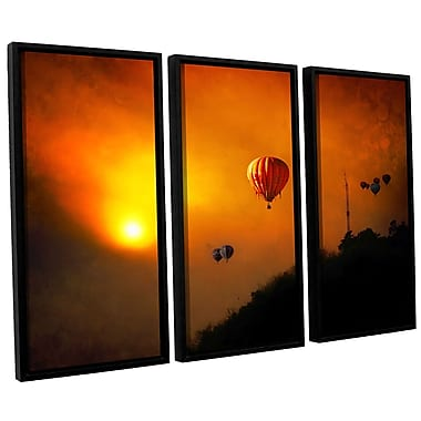 ArtWall 'Sunset Expedition' by Dragos Dumitrascu 3 Piece Framed Photographic Print on Canvas Set