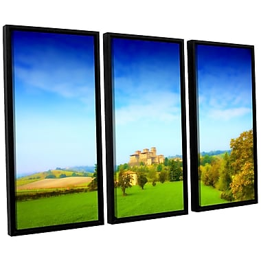 ArtWall 'Italian Castle' by Dragos Dumitrascu 3 Piece Framed Photographic Print on Canvas Set