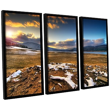 ArtWall 'The Winter Sun' by Dragos Dumitrascu 3 Piece Framed Photographic Print on Canvas Set