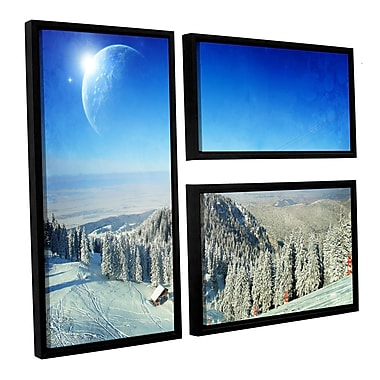 ArtWall 'Between Worlds V1' by Dragos Dumitrascu 3 Piece Framed Photographic Print on Canvas Set