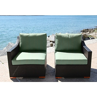 Bellini Marcelo Left/Right Sectional Piece w/ Cushions; Dura-Fast Fragship Blue