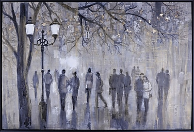 Hobbitholeco. ''Street Walk'' by Anastasia C Graphic Art on Canvas