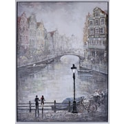 Hobbitholeco. ''Amsterdam Lovers'' by Peter Kiyanitsa Painting Print on Canvas