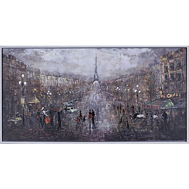 Hobbitholeco. ''Happy Paris'' by Peter Kiyanitsa Painting Print on Canvas