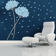 Style and Apply Blowball Leaves Wall Decal