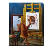 Artistic Home Gallery 'Norman Catwell' by Lucia Heffernan Graphic Art on Wrapped Canvas