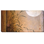 Artistic Home Gallery 'Lakeside Moonrise' by Don Li-Leger Graphic Art on Wrapped Canvas