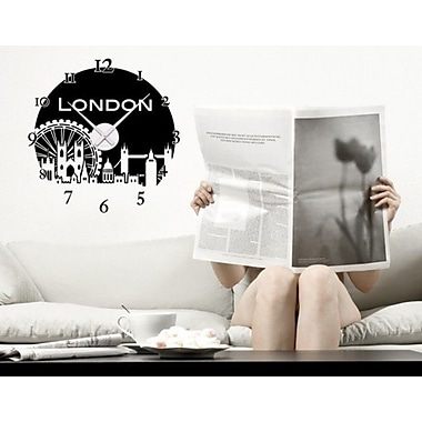 Style and Apply London Wall Clock Wall Decal; Royal Blue