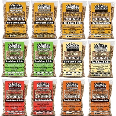 Smokehouse Products All Natural Flavored Wood Chunks (12 Pack)
