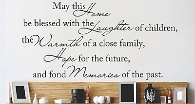 Design With Vinyl May This Home Be Blessed Wall Decal