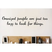 Design With Vinyl Organized People Wall Decal