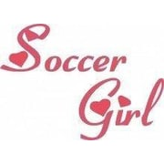 Design With Vinyl Soccer Girl Wall Decal