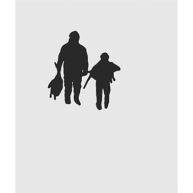 Design With Vinyl Father and Son Walking Deerstalker Wildlife Wall Decal