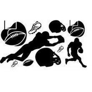 Design With Vinyl Football Wall Decal