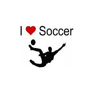 Design With Vinyl I Love Soccer Wall Decal