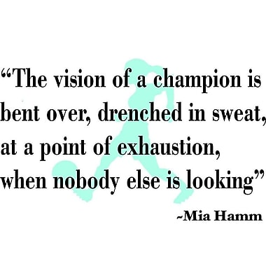 Design With Vinyl The Vision of a Champion - Mia Hamm Wall Decal