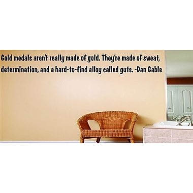 Design With Vinyl Gold Medals Aren't Really Made of Gold - Dan Gable Wall Decal