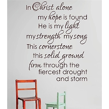 Design With Vinyl In Christ Alone My Hope is Found Bible Wall Decal