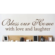 Design With Vinyl Bless Our Home Bible Inspiration Text Lettering Wall Decal