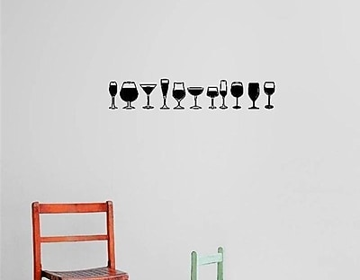 Design With Vinyl Wine Glass Border Wall Decal