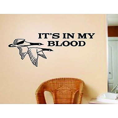 Design With Vinyl It's In My Blood Flying Ducks Wall Decal