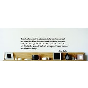 Design With Vinyl The Challenge Of Leadership - Jim Rohn Wall Decal