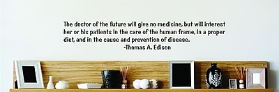 Design With Vinyl The Doctor Of The Future - Thomas A. Edison Wall Decal