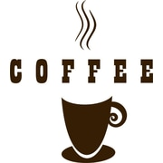 Design With Vinyl Coffee w/ Coffee Cup Mug Picture Art Wall Decal