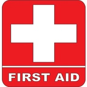 Design With Vinyl First Aid Medical Safety Cross Wall Decal