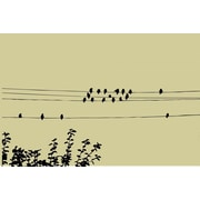 Design With Vinyl Birds on a Wire Wall Decal