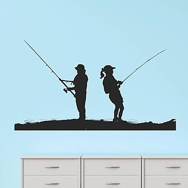 Design With Vinyl Man Women Fishing Scene Wall Decal